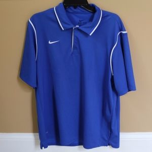 Nike Men's Dri-FIT Blue Polo Shirt